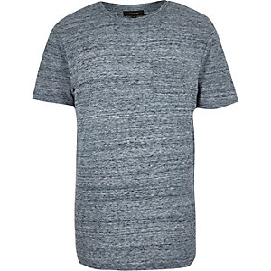 Blue textured t-shirt