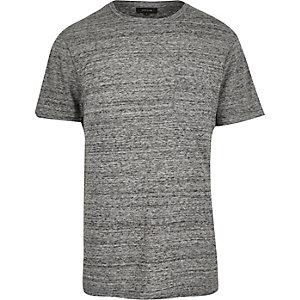 Grey textured t-shirt