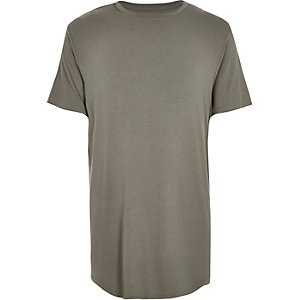 Grey longer length loose fit t-shirt