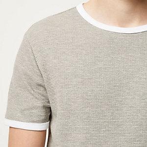 Grey marl waffle t-shirt