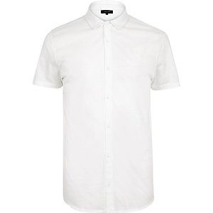 White premium button shirt
