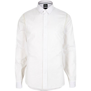 White Design Forum smart sporty shirt