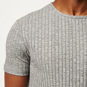 Light grey chunky ribbed t-shirt