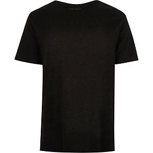 Black plain short sleeve t-shirt