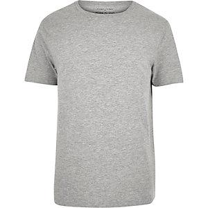 Grey marl plain short sleeve t-shirt