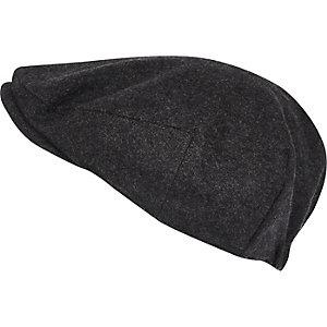 Charcoal grey flat cap