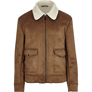 Tan shearling collar jacket