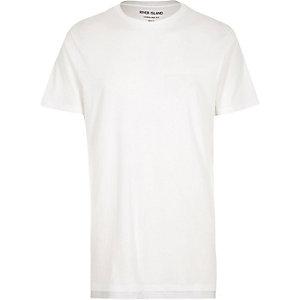T-shirt blanc coupe longue