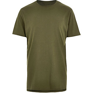 Dark green longline T-shirt