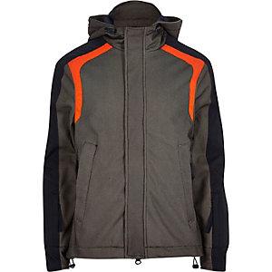 Grey Lou Dalton textured panel jacket