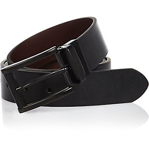 Black casual reversible belt