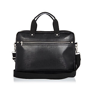Black sleek work bag