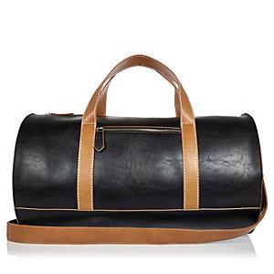 Black sleek structured holdall