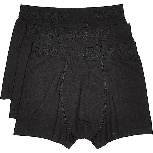 Black modal branded trunks multipack