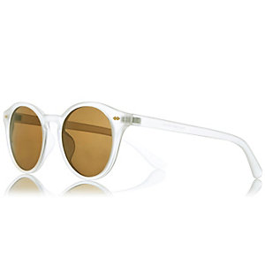 White frosted sunglasses