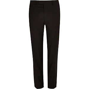 Black skinny suit pants