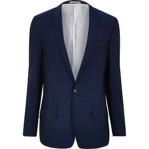 Bright blue slim suit jacket
