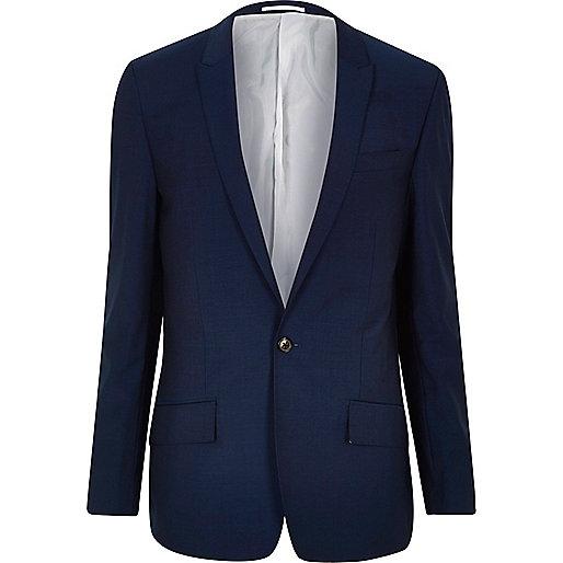 Veste de costume bleu vif cintrée
