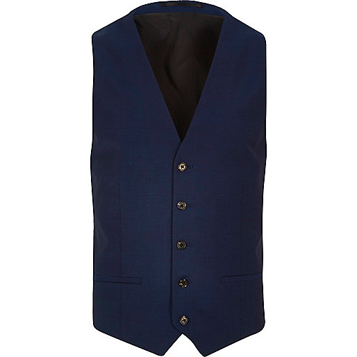 Bright blue slim vest