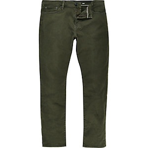 Khaki green Dylan slim fit jeans