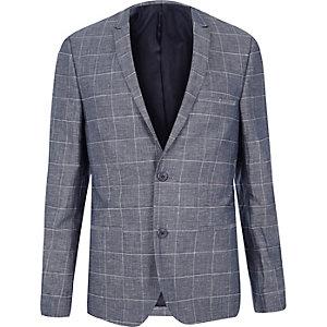 Dark blue check Vito blazer
