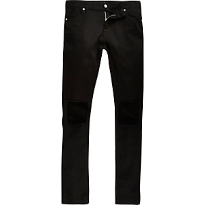 Black Jaded extreme ripped knee skinny jeans