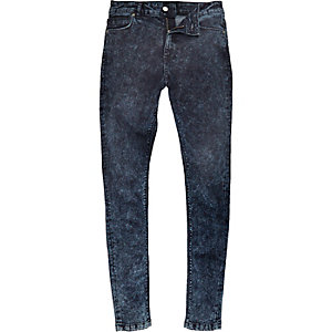 Blue Jaded acid wash skinny jeans