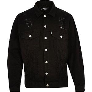 Black Jaded distressed oversized denim jacket