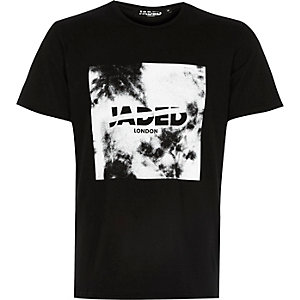 Black Jaded cloud print t-shirt