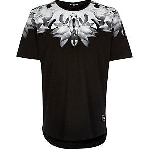 Black Jaded floral print t-shirt