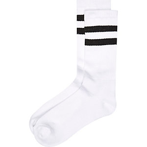 White stripe tube socks