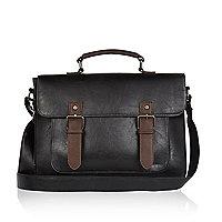 Black classic satchel bag