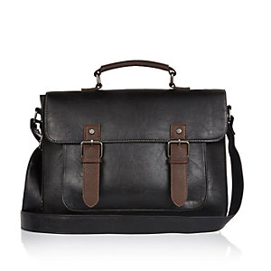 Black classic satchel bag