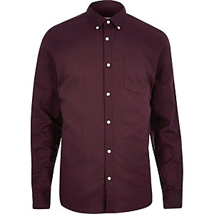 Dark purple Oxford shirt