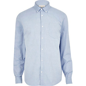 Blue Oxford long sleeve shirt