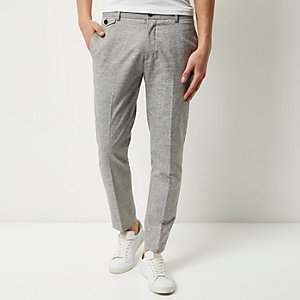 Light grey skinny cropped pants