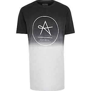 Grey Antioch logo dip dye t-shirt