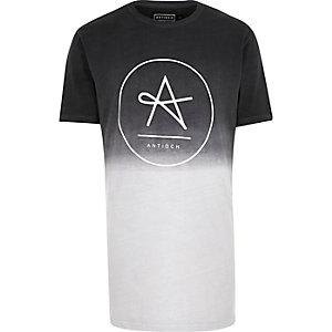 Grey Antioch dip dye longline t-shirt