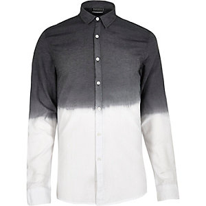 Black Antioch faded dip dye shirt