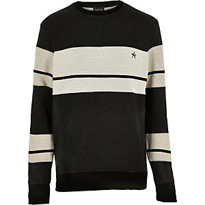 Black Antioch stripe sweatshirt