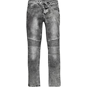 Grey Antioch biker jeans