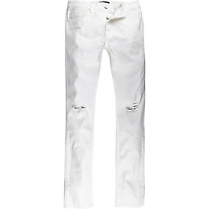 White Antioch ripped skinny jeans