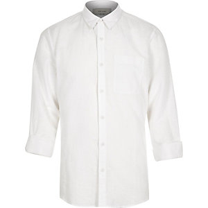 White linen-rich shirt