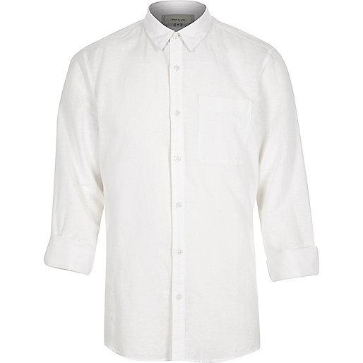 White linen-rich shirt
