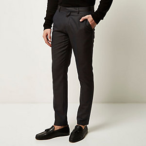 Dark grey smart skinny pants