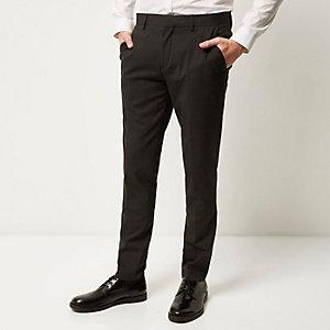 Grey stripe skinny trousers