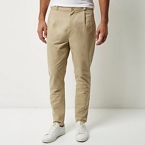 Light brown relaxed tapered trousers