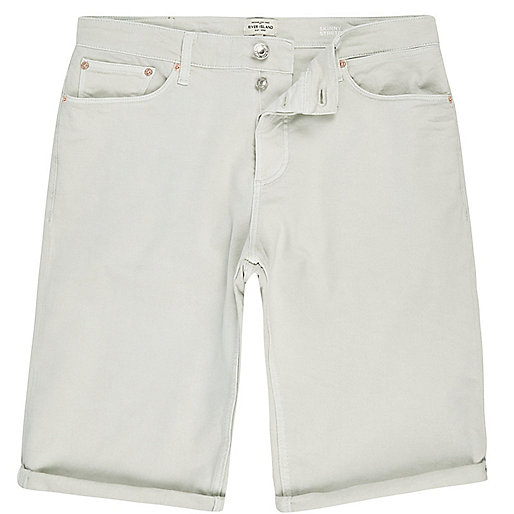 Short en jean vert coupe skinny