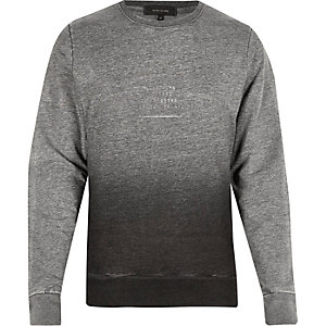 Grey faded NYC foil print sweatshirt