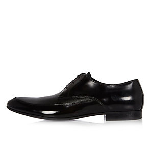 Black Italian leather shoes